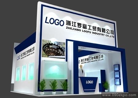 舞台设计 展览设计 效果图设计 浙江罗富工贸公司展示厅效果图