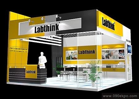 舞台设计 展览设计 效果图设计 labthink博览会特装设计
