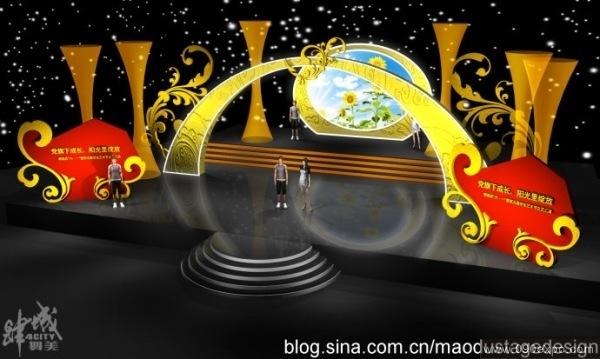 京剧舞台设计效果图 舞台设计学校