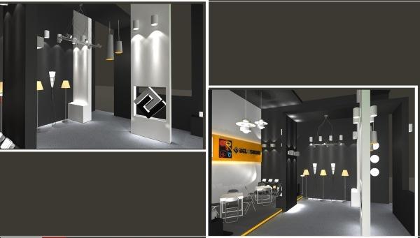 室内设计 商业空间设计 建筑设计 展示厅设计 桁架展位设