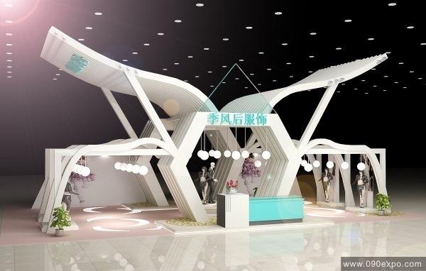 展示设计 展会搭建效果图 展馆交易会设计 展览馆博览会制作