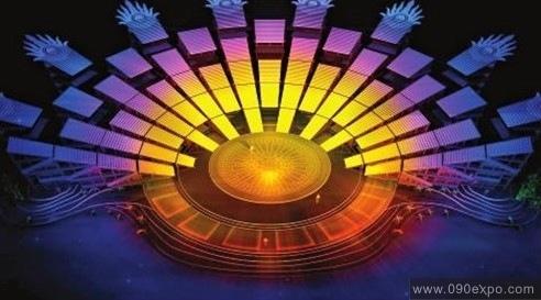 舞台设计 展览设计 效果图设计 南宁民歌艺术节开幕式晚会舞美设计