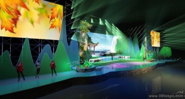 学校晚会舞台设计室内设计效果图酒店