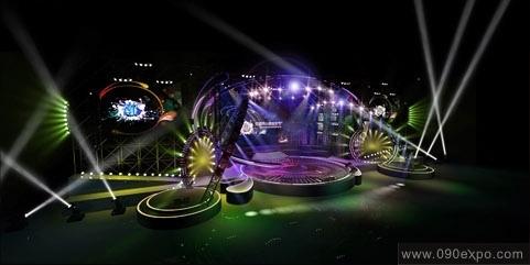无国界音乐节舞美效果图