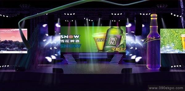 雪花啤酒新品上市舞台设计
