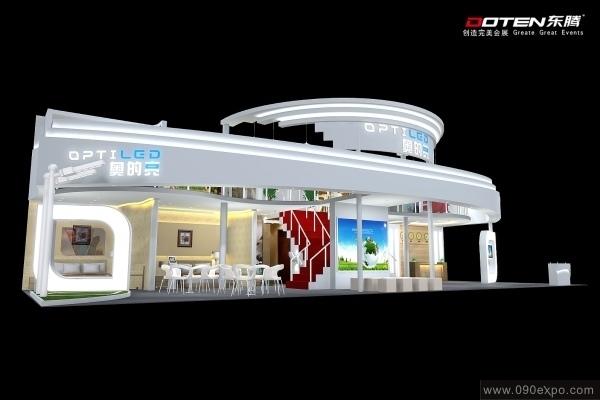 舞台设计 展览设计 效果图设计 奥的亮optiled展位设计效果图