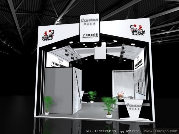 舞台设计 展览设计 效果图设计 ex4-069广州神曲乐器展览展示模型下载