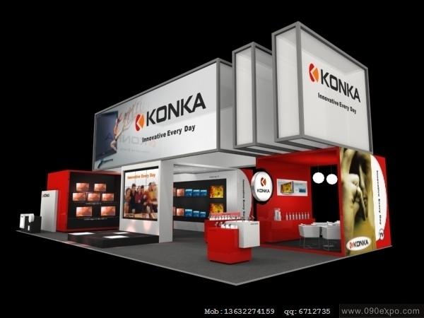 设计图库-ex3-133-konka展示3d模型下载-零距离展会网