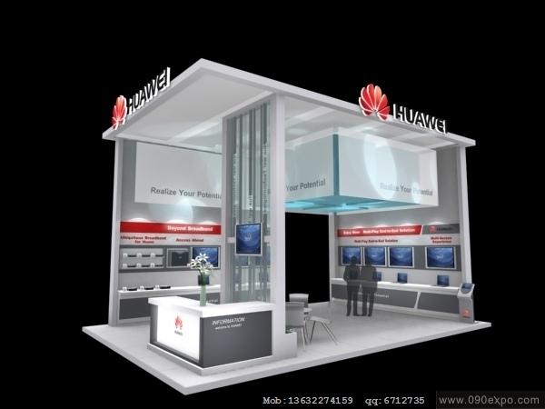 舞台设计 展览设计 效果图设计 ex3-122华为huawei-4展览展示3d模型图片