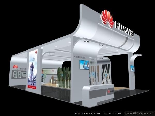 舞台设计 展览设计 效果图设计 ex3-123华为huawei-5展览展示3d模型