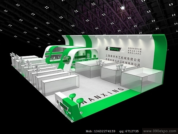 ex4-164南兴木工机械公司展示设计模型